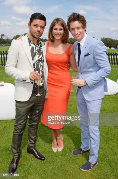 Dominic Cooper, Gemma Arterton and Eddie Redmayne attend Audi International at Guards Polo Club, near Windsor, to support England as it faces...