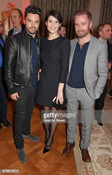Dominic Cooper Gemma Arterton and Rory Keenan attend the Audi A8 Launch at Cowdray House on November 24 2017 in Midhurst England