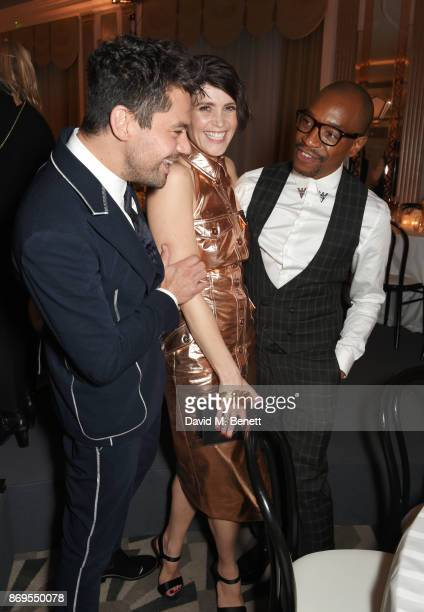 Dominic Cooper Gemma Arterton and Syrus Lowe attend Harper's Bazaar Women of the Year Awards in association with Ralph Russo Audemars Piguet and...
