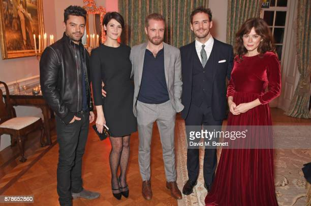 Dominic Cooper Gemma Arterton Rory Keenan Sam Claflin and Anna Friel attend the Audi A8 Launch at Cowdray House on November 24 2017 in Midhurst...