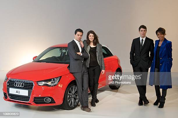 Dominic Cooper, Gemma Arterton, Toby Kebbell and Naomie Harris attend the AUDI A1 launch at Battersea Power station on November 13, 2010 in London,...
