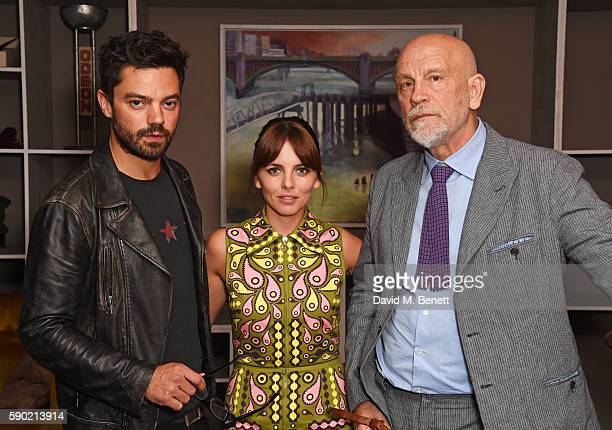 Dominic Cooper Ophelia Lovibond and John Malkovich attend a Royal Court Theatre 60th anniversary film screening of 'The Libertine' at the...