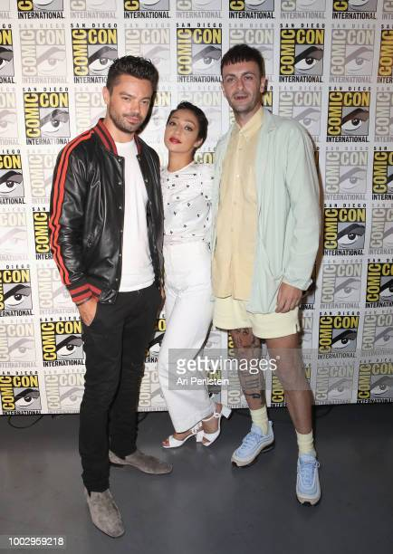 Dominic Cooper Ruth Negga and Joe Gilgun attend the 'Preacher' autograph signing and panel with AMC during ComicCon International 2018 at San Diego...