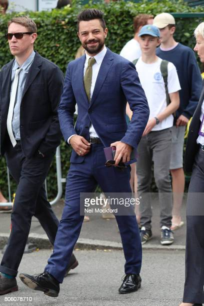 Dominic Cooper seen arriving at Day One of Wimbledon 2017 on July 3 2017 in London England