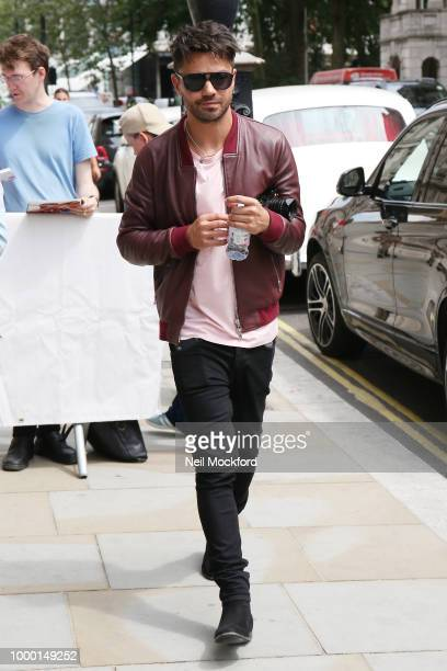 Dominic Cooper seen arriving at his hotel on July 16 2018 in London England