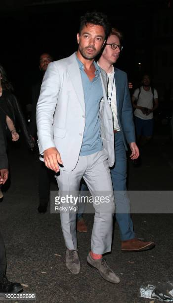 Dominic Cooper seen attending Mamma Mia Here We Go Again UK film premiere afterparty at Hammersmith Apollo on July 16 2018 in London England