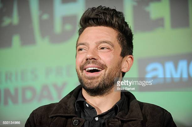 Dominic Cooper speaks onstage during AMC's PREACHER Pop Up Screening on May 20 2016 in New York City
