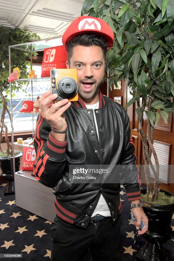 "Dominic Cooper stops by Nintendo at the Variety Studio to check out the Nintendo Switch with his ""Preacher"" cast mates at Comic-Con 2018 on July 20, 2018 in San Diego, CA.A"