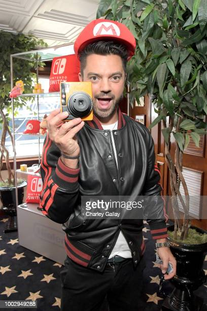 "Dominic Cooper stops by Nintendo at the Variety Studio to check out the Nintendo Switch with his ""Preacher"" cast mates at ComicCon 2018 on July 20..."