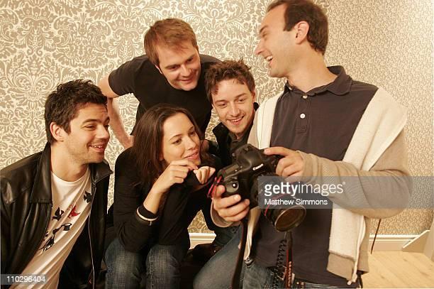 Dominic Cooper Tom Vaughan Rebecca Hall James Mcavoy and photographer Jeff Vespa
