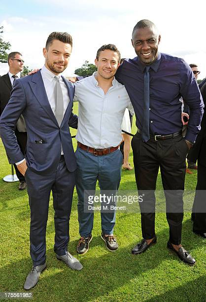 Dominic Cooper Warren Brown and Idris Elba attend day 2 of the Audi Polo Challenge at Coworth Park Polo Club on August 4 2013 in Ascot England
