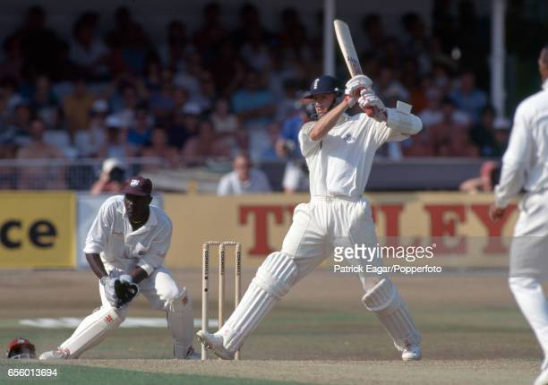 Dominic Cork batting for England during his innings of 31 in the 5th Test match between England and West Indies at Trent Bridge Nottingham 11th...