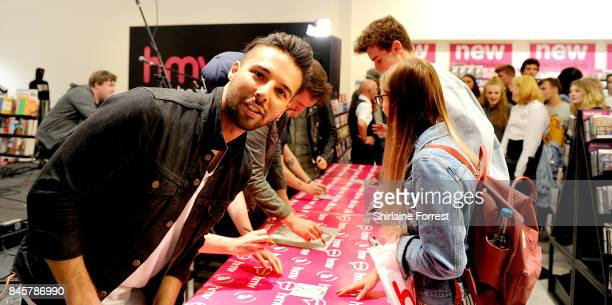 Dominic Craik of Nothing But Thieves performs live and signs copies of their new album 'Broken Machine' at HMV Manchester on September 11 2017 in...