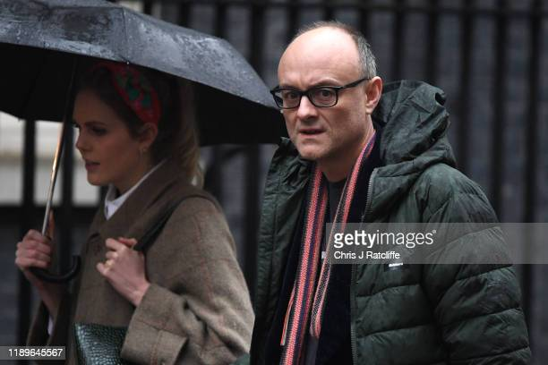 Dominic Cummings arrives in Downing Street on December 20 2019 in London England MPs are voting today on the second reading of the Withdrawal...