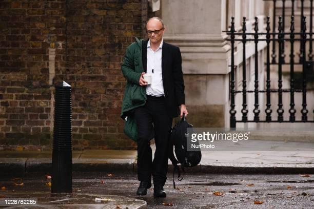 Dominic Cummings Chief Adviser to British Prime Minister Boris Johnson arrives for work on Downing Street in London England on September 29 2020