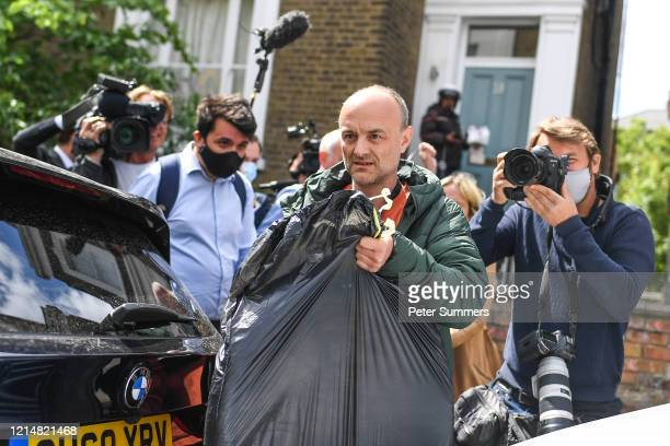 Dominic Cummings Chief Advisor to Prime Minister Boris Johnson is seen leaving his house on May 24 2020 in London England On March 31st 2020 Downing...