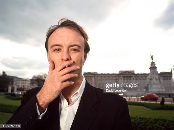 Dominic Cummings poses for a photograph as campaign director at Business for Sterling on March 19 2001 in London England