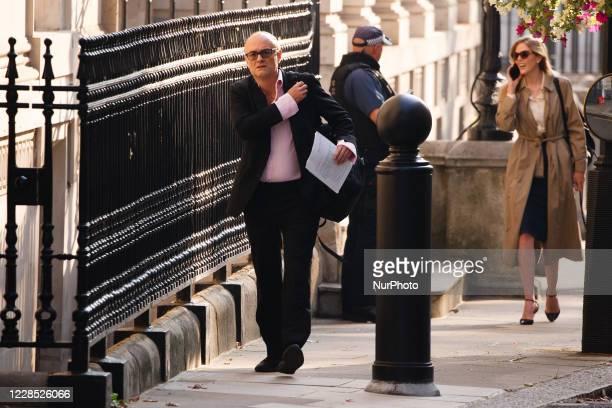 Dominic Cummings senior adviser to British Prime Minister Boris Johnson walks up Downing Street in London England on September 15 2020