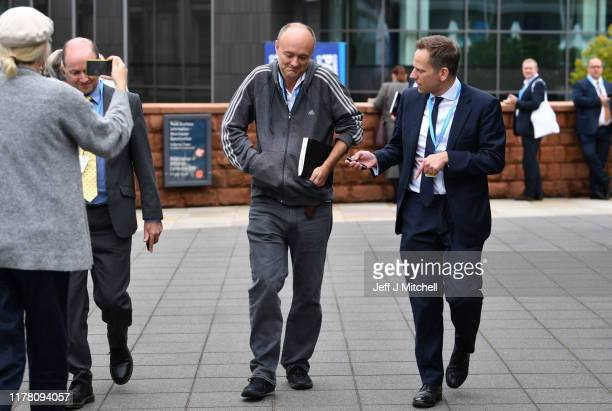 Dominic Cummings senior advisor to Prime Minister Boris Johnson attends day two of the 2019 Conservative Party Conference at Manchester Central on...