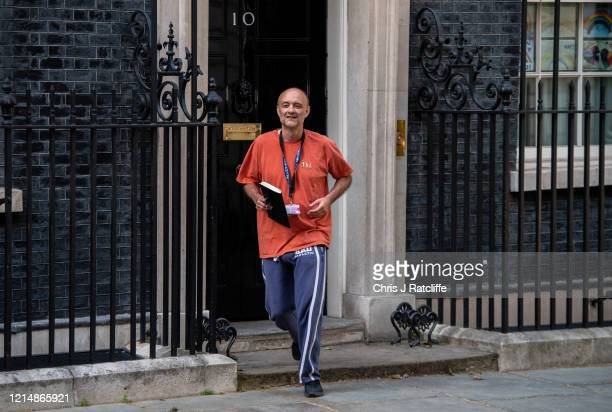 Dominic Cummings, special adviser to the prime minister, leaves 10 Downing Street on May 24, 2020 in London, England. On March 31st 2020 Downing...