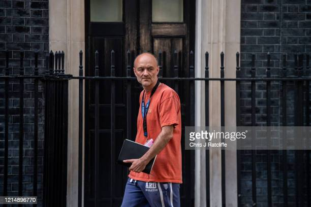 Dominic Cummings special adviser to the prime minister leaves 10 Downing Street on May 24 2020 in London England On March 31st 2020 Downing Street...