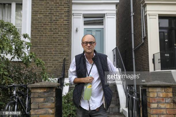 Dominic Cummings special adviser to UK Prime Minister Boris Johnson leaves his home in London UK on Thursday Aug 15 2019 A senior UK Conservative...