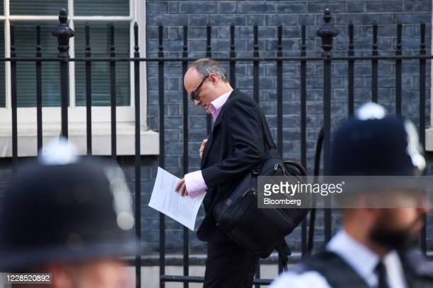 Dominic Cummings special adviser to UK Prime Minister Boris Johnson arrives at Downing Street in London UK on Tuesday Sept 15 2020 UK Prime Minister...