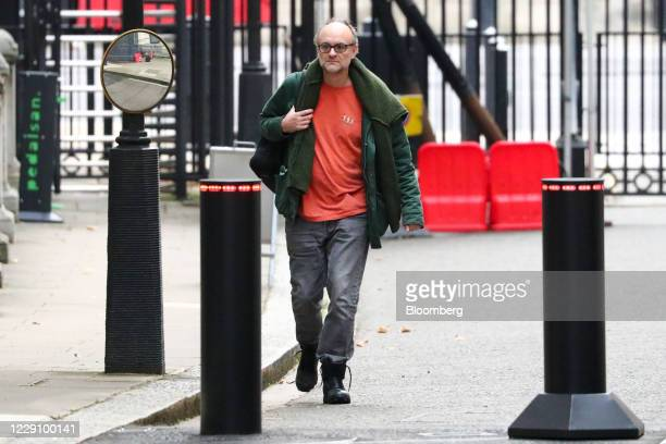 Dominic Cummings special adviser to UK Prime Minister Boris Johnson arrives at number 10 Downing Street in London UK on Friday Oct 16 2020 Boris...