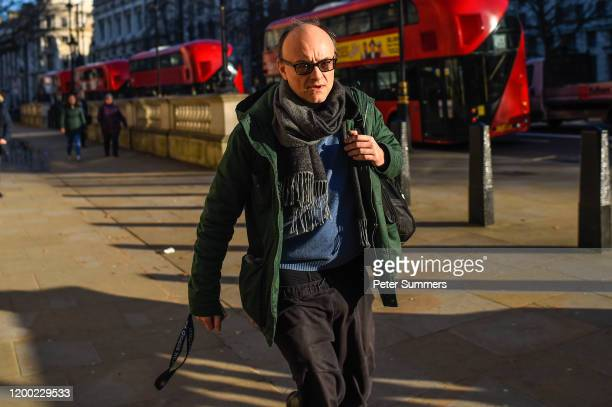 Dominic Cummings Special Advisor to Prime Minister Boris Johnson arrives at Downing Street on February 12 2020 in London England