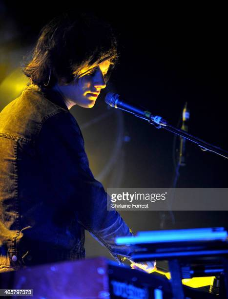 Dominic 'Dot' Major of London Grammar performs a sold out show at Manchester Academy on January 29 2014 in Manchester England