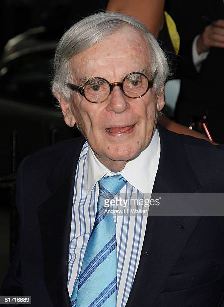 Dominic Dunne attends the reception for Gonzo The Life and Work of Dr Hunter S Thompson on June 25 2008 at The Waverly Inn in New York City