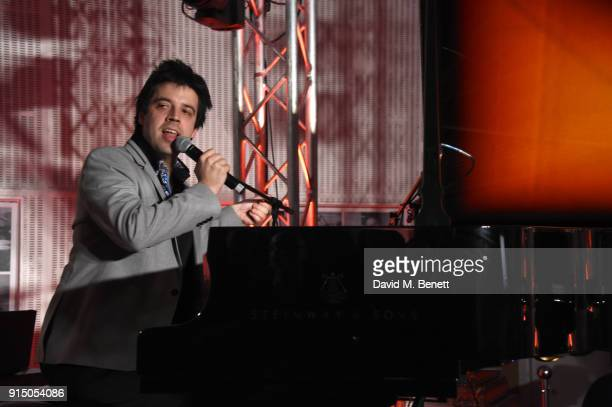 Dominic Ferris Performs at the Steinway Sons Sunburst Launch Event at Abbey Road Studios on February 6 2018 in London England