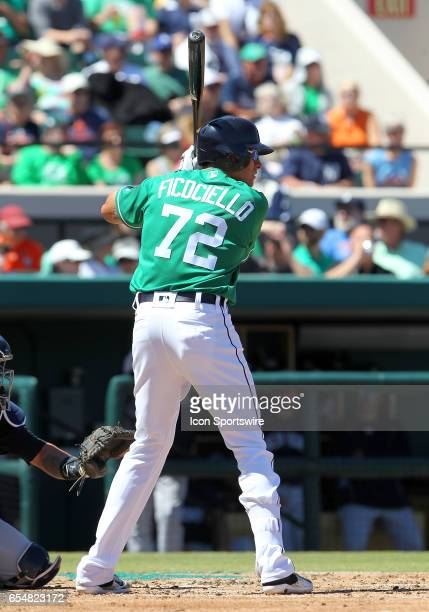 Dominic Ficociello of the Tigers at bat during the spring training game between the New York Yankees and the Detroit Tigers on March 17 2017 at Joker...