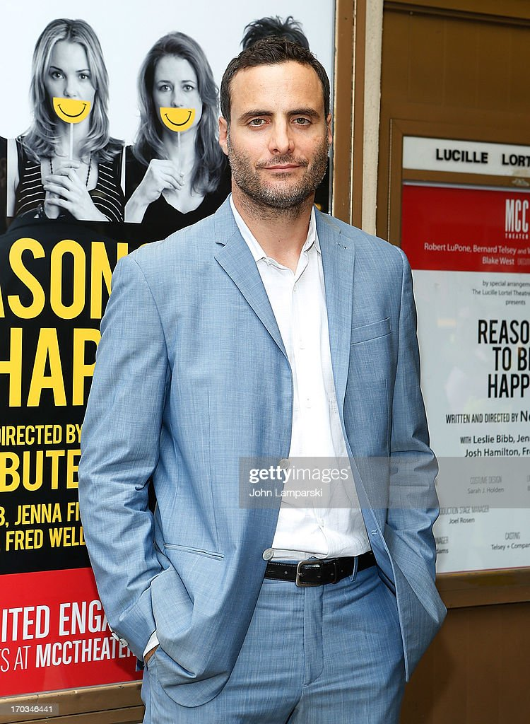 Dominic Fumusa attends 'Reasons To Be Happy' Broadway Opening Night at the Lucille Lortel Theatre on June 11, 2013 in New York City.