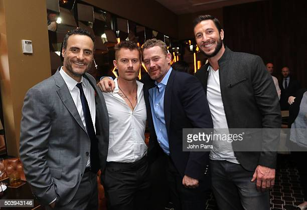 Dominic Fumusa James Badge Dale Max Martini and Pablo Schreiber attend the after party for the Miami Fan Screening of the Paramount Pictures film '13...