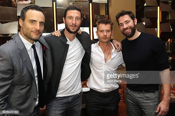 Dominic Fumusa Pablo Schreiber James Badge Dale and John Krasinski attend the after party for the Miami Fan Screening of the Paramount Pictures film...
