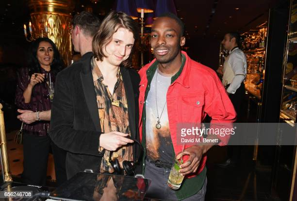 Dominic Gore and Ady Acolatse or Little Cub attend the Another Man Spring/Summer Issue launch dinner in association with Kronaby at Park Chinois on...