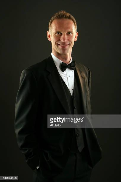 Dominic Hasek of the Detroit Red Wings poses for a portrait prior to the 2008 NHL Awards at the at the Elgin Theatre on June 12, 2008 in Toronto,...