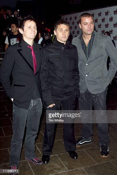 Dominic Howard Matthew Bellamy and Chris Wolstenholme of Muse