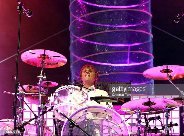 Dominic Howard of Muse during Muse in Concert at Main Square Festival in Arras, France - July 1, 2006 at Main Square Festival in Arras, France.