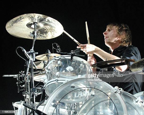 Dominic Howard of MUSE during Muse in Concert at The Arena At Gwinnett in Duluth, Georgia - April 24, 2007 at The Arena At Gwinnett in Duluth,...