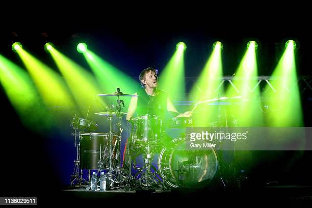 Dominic Howard of Muse performs in concert at Austin360 Amphitheater on March 23, 2019 in Austin, Texas.
