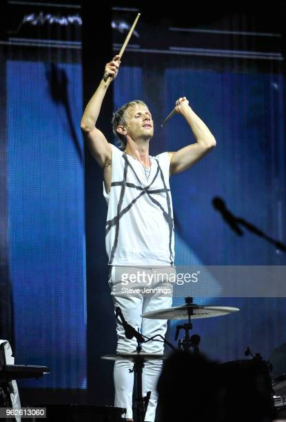 Dominic Howard of Muse performs on Day 1 of BottleRock Napa Valley Music Festival at Napa Valley Expo on May 25 2018 in Napa California