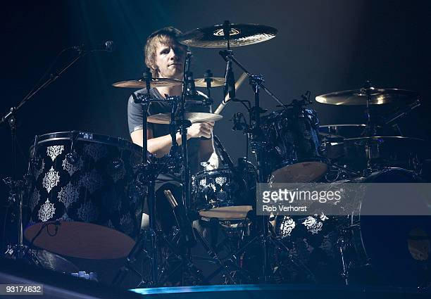 Dominic Howard of Muse performs on stage at Ahoy on November 14 2009 in Rotterdam Netherlands