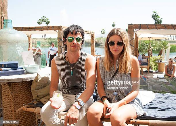 Dominic Howard of 'Muse' with Actress/Model Keeley at Riviera Brunch hosted by GREY GOOSE at Soho Desert House on April 11, 2015 in La Quinta,...