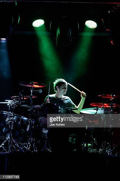 Dominic Howard of the band Muse performs in concert at Madison Square Garden on March 5 2010 in New York City