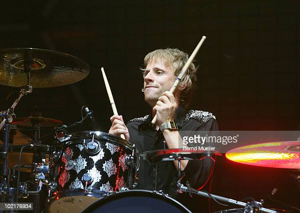 Dominic Howard of the band Muse performs on stage during the final day of Rock Im Park Festival at Zeppelinfeld on June 6 2010 in Nuremberg Germany