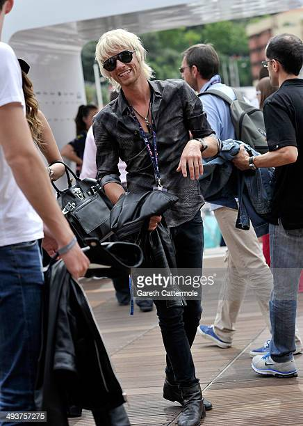 Dominic Howard onboard the Red Bull Energy Station during the Monaco Formula One Grand Prix at Circuit de Monaco on May 25 2014 in MonteCarlo Monaco