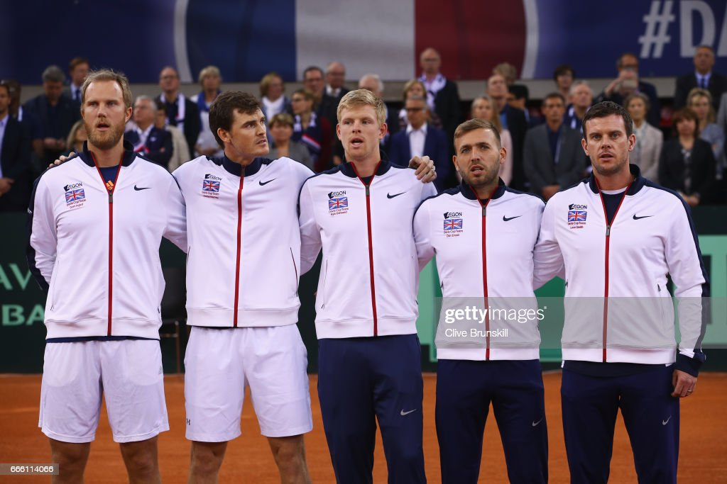 France v Great Britain - Davis Cup World Group Quarter-Final: Day Two : News Photo
