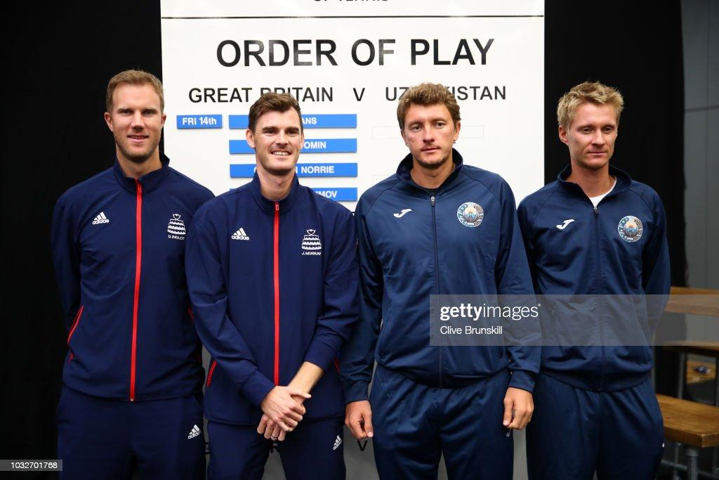 Great Britain v Uzbekistan - Davis Cup Previews : News Photo